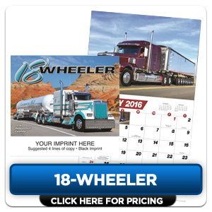 Custom Imprinted Calendar - 18-Wheeler!
