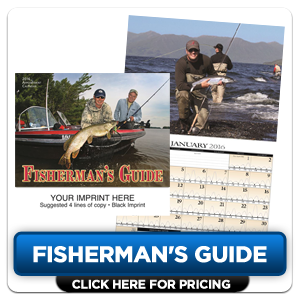 Custom Imprinted Calendar - Fisherman's Guide!