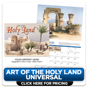 Custom Imprinted Calendars - Art of the Holy Land!