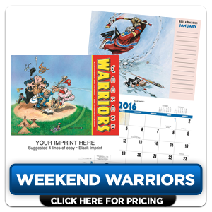 Personalized Calendars - Weekend Warriors'!