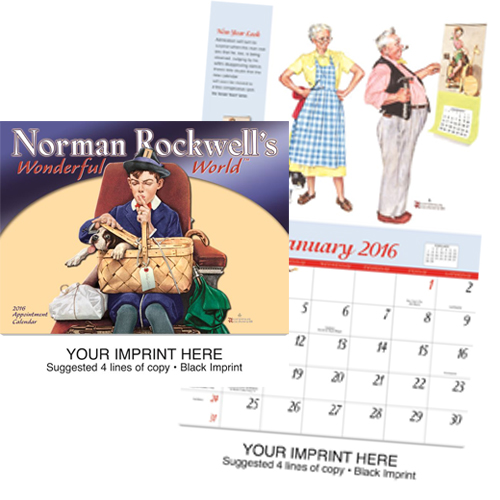 Personalized Imprinted Calendar - Norman Rockwell's Wonderful World #802