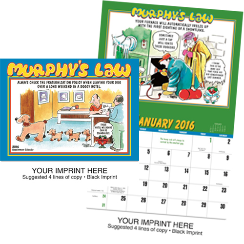 Funny Imprinted Calendar - Murphy's Law #807