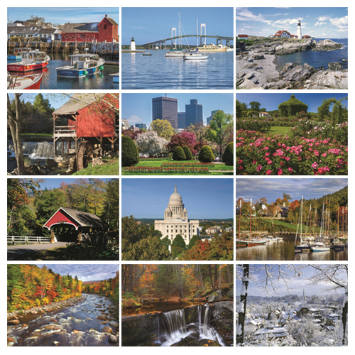 Personalized Scenic Calendar - New England #812