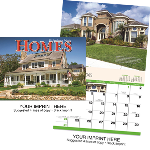 Custom Imprinted Calendar - Homes #813
