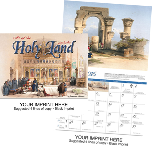 Catholic Imprinted Calendar - Art of the Holy Land-Catholic #816
