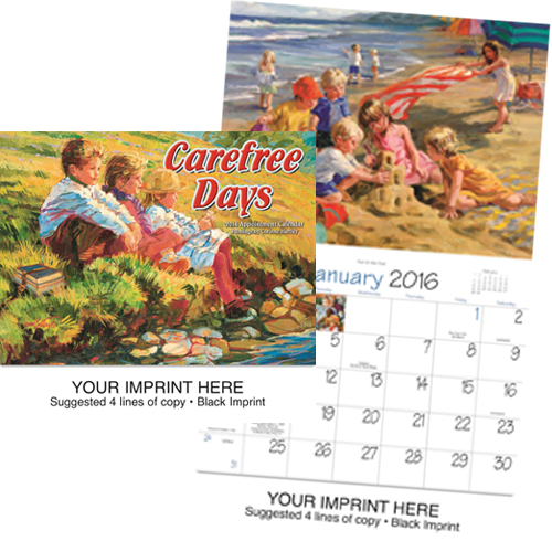 Custom Imprinted Calendar - Childhood Dreams #818