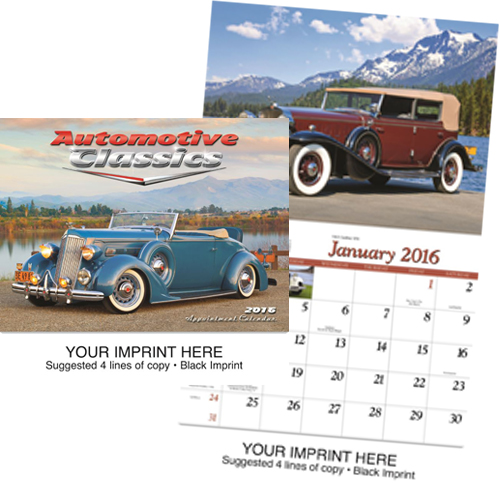 Custom Imprinted Car Calendar - Automotive Classics #820