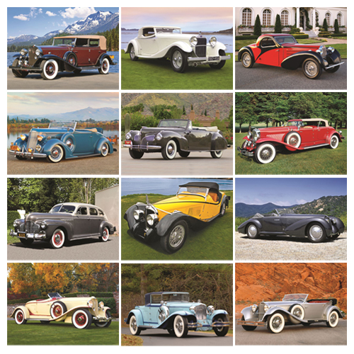Antique Car Calendar - Automotive Classics #820