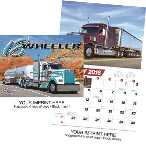 Custom Imprinted Truck Calendar - 18-Wheeler #823