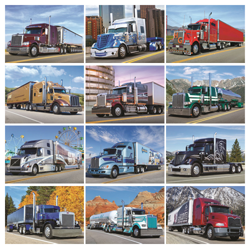 Personalized Truck Calendar - 18-Wheeler #823