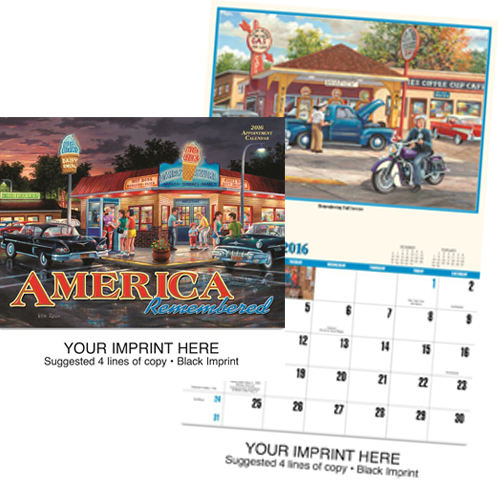Custom Imprinted Nostalgia Calendar - America Remembered #829