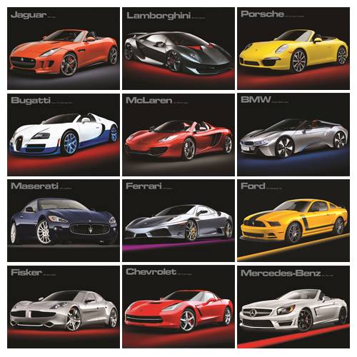 Personalized Car Calendar - Fast Trax #830