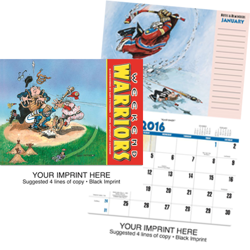 Custom Imprinted Calendar - Weekend Warriors #834