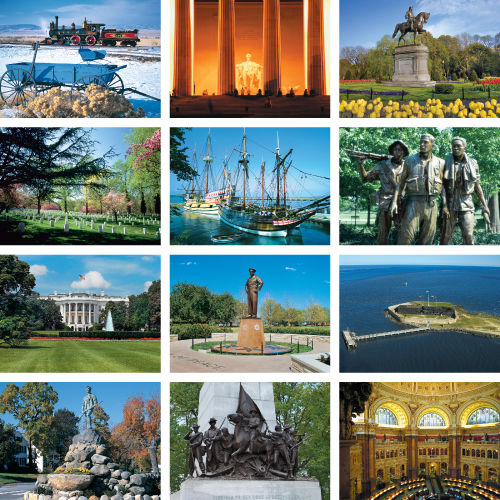 Personalized Scenic Calendar - Great Symbols of American History #839