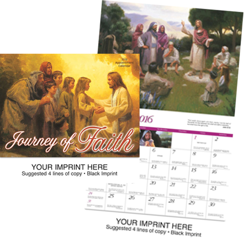 Custom Imprinted Religious Calendar - Journey of Faith-Universal #851