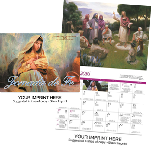 Custom Imprinted Bilingual Calendar - Jornada de Fe-Catholic/Bilingual #852