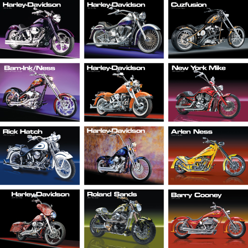 Personalized Motorcycle Calendar - Custom Cycles #865